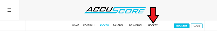 AccuScore Website navigation