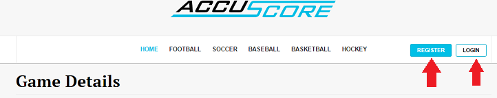 AccuScore Log in page
