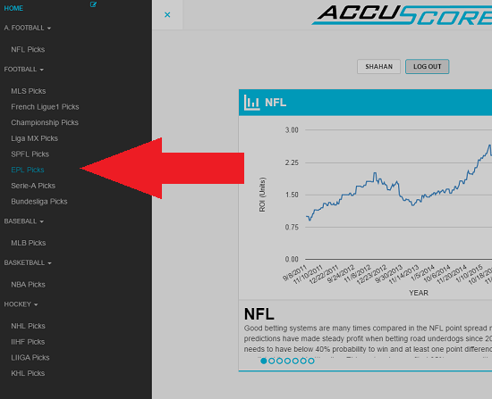 AccuScore Website navigation 4